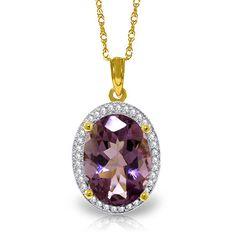 Carat Gold Loren Amethyst Diamond Necklace For Sale Amethyst Necklace, Diamond Pendant Necklace, Gold Necklace, Gemstone Jewelry, Gold Jewelry, Or Rose, Rose Gold, Necklace Online, Carat Gold
