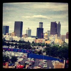 """Atlanta skyline from the stadium #atlanta #braves"""