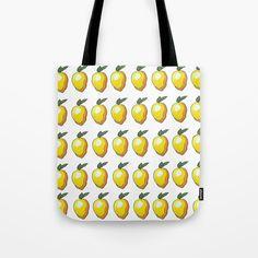 An ode to mangos, the superior fruit! #bag #yellow #mango #fun #bright #print #drawing #art #totebag #fruit #cute Cotton Tote Bags, Reusable Tote Bags, Drawing Art, Zipper Pouch, Pouches, Mango, Bright, Fruit, Yellow