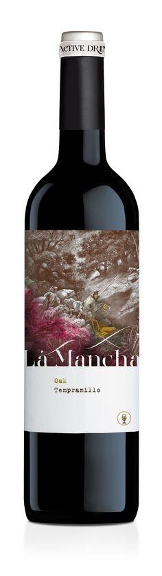 Tempranillo Roble • La Mancha D.O. Wine Label Design, Bottle Design, Wine Bottle Labels, Beer Label, E Commerce, Wine Tasting Near Me, Wine Coolers Drinks, Sangria Wine, Spanish Wine