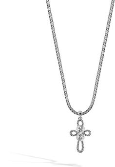 Shop Classic Chain Diamond Cross Necklace from John Hardy at Neiman Marcus Last Call, where you'll save as much as on designer fashions. John Hardy Jewelry, Diamond Cross Necklaces, Last Call, Clearance Sale, Neiman Marcus, Jewelry Design, Chain, Luxury, Classic