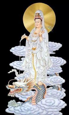 QUan Yin, COmpassion from embracing QUintessentialness ie True Self I believe Buddha Zen, Buddha Buddhism, Buddhist Art, Orisha, Chinese Painting, Chinese Art, Buddha Tattoos, Art Asiatique, Tibetan Art