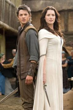 Craig Horner and Bridget Regan on  Legend of the Seeker