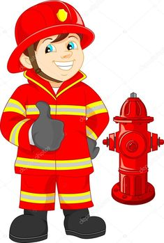 Find fireman cartoon stock images in HD and millions of other royalty-free stock photos, illustrations and vectors in the Shutterstock collection. Firefighter Clipart, Drawing Games For Kids, Free Vector Illustration, Community Helpers, Fire Safety, Toddler Crafts, Pre School, Fire Trucks, Preschool Activities