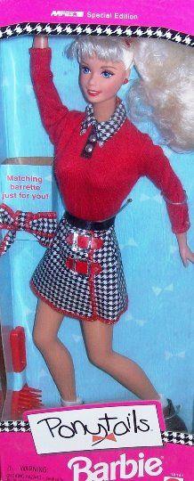 NEW ~ 1997 AAFES Exclusive Ponytails Barbie #18141