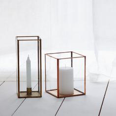Sankari Candle Holders in brass & copper - watch them glimmer in the candlelight.