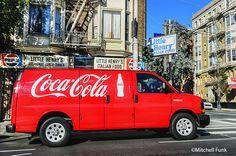 Red Coca-Cola Truck In The Tenderloin District, San Francisco By Mitchell Funk  www.mitchellfunk.com