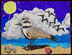 Endangered Species Day art contest K-2 grade category semi-finalist: Sheryl Chen, Age 6, Western snowy plover