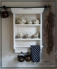 Landelijk keukenrek antiek wit ♥