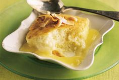 Coconut-Lime Pudding Cake recipe from Food Network Kitchen via Food Network