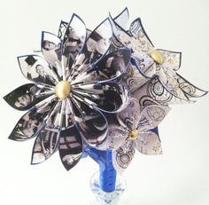 Doctor Who Inspired Wedding Bouquet one of a by DanasPaperFlowers, $50.00