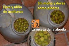 Cura y aliño casero de aceitunas olivas. Aceitunas sabrosas hechas en casa receta abuela. Romanian Food, Food Decoration, Canapes, Churros, Diy Food, Finger Foods, Preserves, Pickles, Cucumber