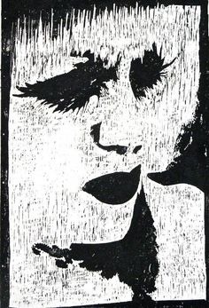 Woodcut by printmaker Tracey Hollowood