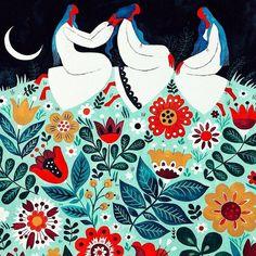 Contemporary Decorative Art, Amazing Paintings, Triple Goddess, Good Night Image, Naive Art, Colorful Flowers, Art Inspo, Flower Art, Art For Kids
