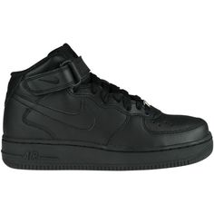 Nike Air Force 1 Mid | www.footlocker.eu ($75) ❤ liked on Polyvore featuring shoes, sneakers, nike, trainers, footwear, nike footwear, nike trainers, nike sneakers and nike shoes