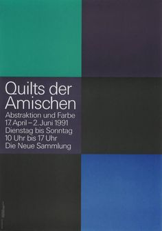 Pierre Mendell _ Poster for exhibition of Amish Quilts