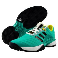 e60a599b adidas Barricade 2018 NEW Men's Tennis Shoes Racquet Aqua Green NWT Shoe  AH2091 #adidas
