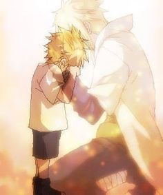 Naruto & Minato. He would be there for you Naruto if he could. WHY MUST THIS MAKE ME SAD?!!!