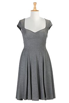 eShakti Her fifties melange knit dress. I wish it came in light blue...gray might work though...