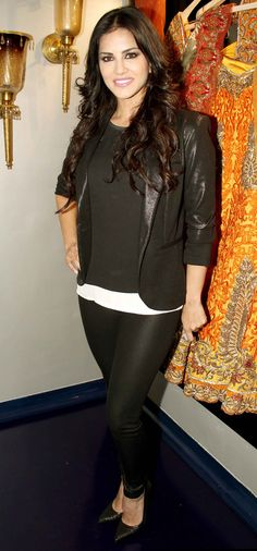 Sunny Leone at the launch of designer Mayyur Girotra's new store. #Style #Bollywood #Fashion #Beauty