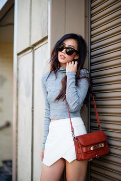 Neon Blush, Zara top and skirt, LA fashion blog, Proenza Schouler