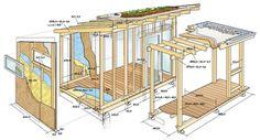 Konstruktionszeichnung | Unser Atelier-Gartenhaus im Detail