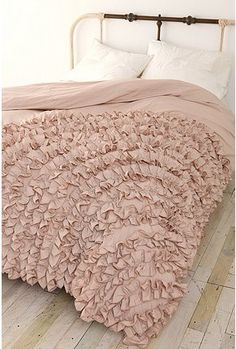 luxe duvet cover in ruffle heaven