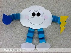 Cute Cloud craft for Weather Unit! This teacher has an entire unit planned, a lot of great ideas! : Cute Cloud craft for Weather Unit! This teacher has an entire unit planned, a lot of great ideas! Daycare Crafts, Classroom Crafts, Toddler Crafts, Crafts For Kids, Science Classroom, Classroom Ideas, Teaching Weather, Preschool Weather, Weather Kindergarten