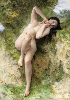 """A Dryad"", 1904 William Adolphe Bouguereau"