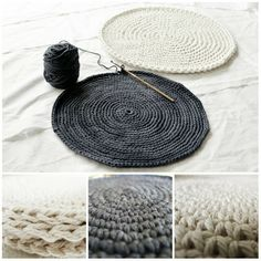 How to create a completely flat circle in single, half double and double crochet. ~BC