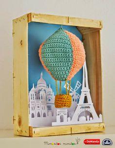 O Blog da DMC: Um balão de ar quente de amigurumi XL