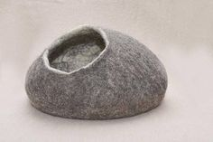 Handmade felt cat cave Natural eco sheep wool cocoon for cat