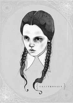 WEDNESDAY  Limited Edition Addams Family Fine by AETHERIUMEMPORIUM, $13.00