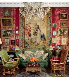 Splendor from the past in the Paris salon of antiques dealer Sylvain Lévy-Alban and design consultant Charlie Garnett. Photo: Pascal Chevallier