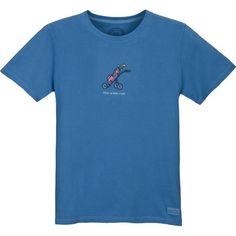 Life is good Women's Crusher How I Roll Golf T-Shirt, Medium, River Blue $30.00