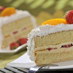 Torta helada de duraznos y fresas :: NESTLE LA LECHERA