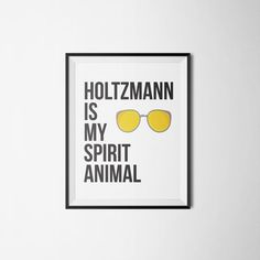 Holtzmann is My Spirit Animal - Jillian Holtzman - 2016 Ghostbusters - Typographic Digital Download - Printable Wall Art