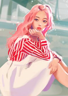 Image shared by Hakuna Matata. Find images and videos about girl, pink and kpop on We Heart It - the app to get lost in what you love. Hakuna Matata, Loona Kim Lip, Kpop Drawings, Korean Art, Music Library, Kpop Fanart, Artist Art, Korean Girl Groups, Cute Art