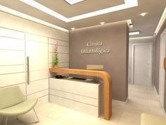 Snotty Dental Office To Get Dental Reception, Small Reception Desk, Reception Desk Design, Office Reception, Dental Office Decor, Medical Office Design, Clinic Interior Design, Clinic Design, Corporate Office Design