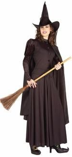 Witch Women Costume - Adult Halloween Costume - Witch Costume includes classic black witch hat with attached scarf, long black cape, black button front top with puff sleeves and long black skirt. Visit us for Witch Costumes Witch Costume Adult, Wicked Witch Costume, Witch Costumes, Girl Costumes, Adult Costumes, Costume Ideas, Homemade Witch Costume, Purim Costumes, Costume Craze