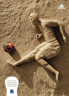 Beach soccer world cup, by Adidas.