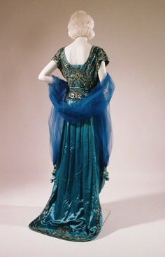 Ephemeral Elegance | Embroidered Evening Gown, ca. 1920 via Bunka...