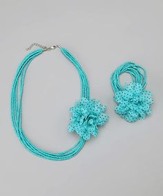 Take a look at this Turquoise Necklace & Bracelet by Rated G