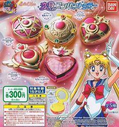 Bandai Sailor Moon 20th Anniversary Brooch Compact Mirror Gashapon Set(Set of 5)