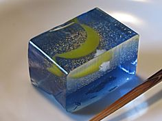 One of the Japanese traditional confectionery, agar jelly, this is made by Kameya Kiyonaga Shop.