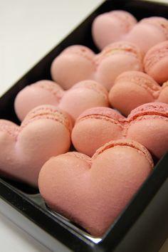 #macarons #rosa #cuore