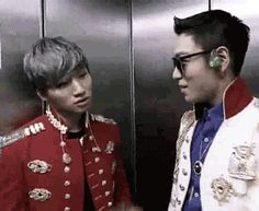 Dae getting gently chastised by TOP. Still Alive tour 2012 I love their bromance.   TODAE @ Alive Tour Behind the Scenes (x)