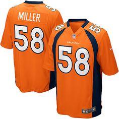 Men's Nike Denver Broncos #58 Von Miller Limited Orange Team Color NFL Jersey Sale