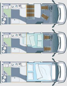 Airstream Sprinter Van Floor Plan Much better to have kitchen area at boot end Camper Life, Truck Camper, Camper Trailers, Bus Life, Travel Trailers, Iveco Daily Camper, Iveco Daily 4x4, Van Conversion Floor, Camper Van Conversion Diy