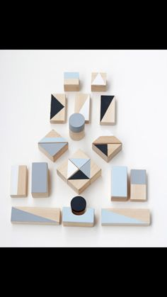 Winter blocks - Eco wooden blocks by Happy Little Folks. Perfect for a good creative building session and as a room decor too!